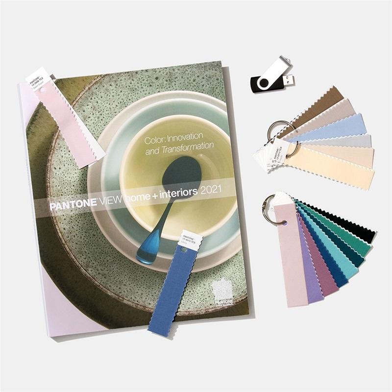2021 潘通PANTONEVIEW 家居装饰 + 室内装潢流行色展望 包含标准棉布版色卡 VH2021