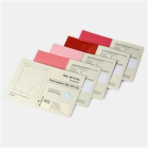 RAL(劳尔)色卡 841-GL校准页&原标准色彩带LAB色差值(高光泽版本) 单页订购